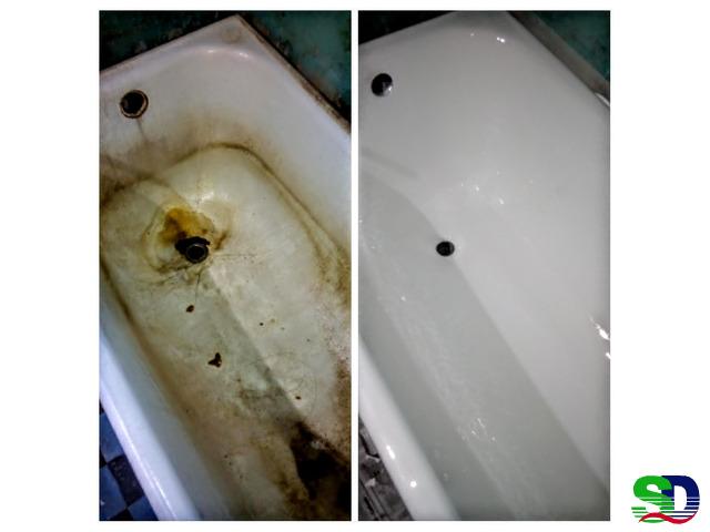 Восстановление и покраска ванны
