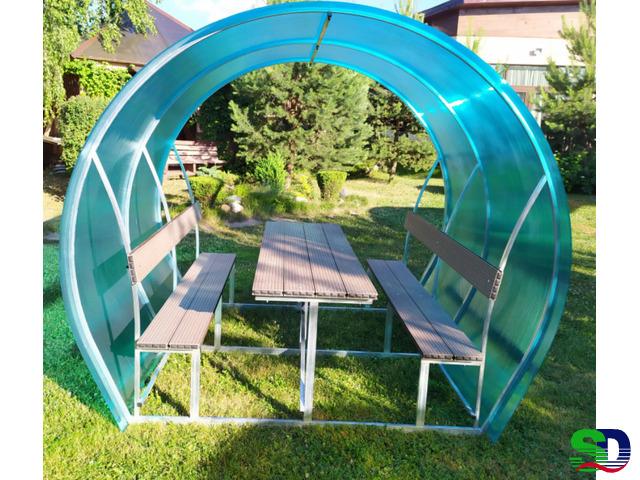 Новые садовые беседки со столиком и лавкой - 2
