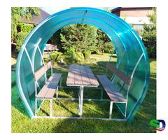 Новые садовые беседки со столиком и лавкой - Фотография 2