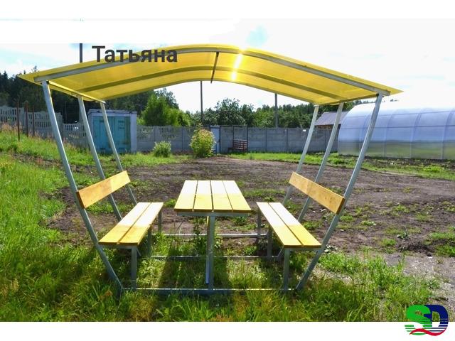 Новые садовые беседки со столиком и лавкой - 3
