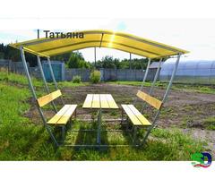 Новые садовые беседки со столиком и лавкой - Фотография 3
